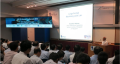 Prof M Rahman, NUS Department of Mechanical Engineering giving a presentation on Large Format Machining in the launching event of Large Format Machining Lab (SIMTech-NUS Joint Lab).